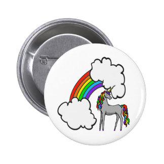 Rainbow Unicorn Pinback Buttons