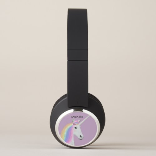 Rainbow Unicorn Custom Bluetooth Headphones