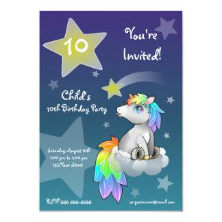 Rainbow Unicorn customizable Starry Wish Invite