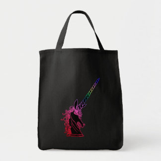 Rainbow Unicorn Emblem Tote