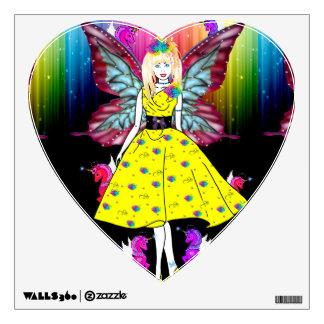 Rainbow unicorn fairy wall sticker