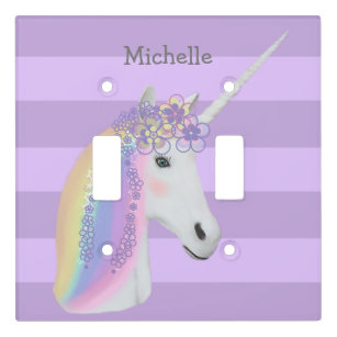Variations Cream Colored Beautiful Unicorn Light Switch Wall Plate Cover #1