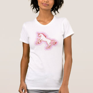 Rainbow Unicorn Fitted Sheer V-Neck T-Shirt
