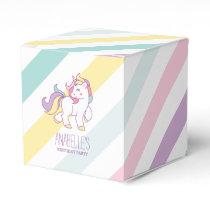 Rainbow Unicorn Girls Birthday Party Favor Box