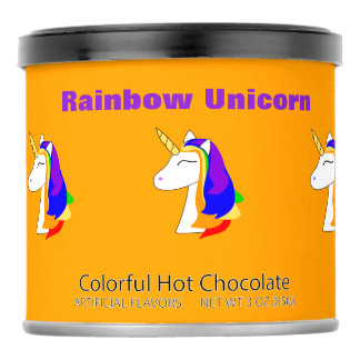 Rainbow unicorn hair colorful hot chocolate mix