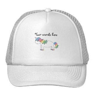 Rainbow unicorn mesh hat