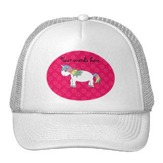 Rainbow unicorn mesh hats