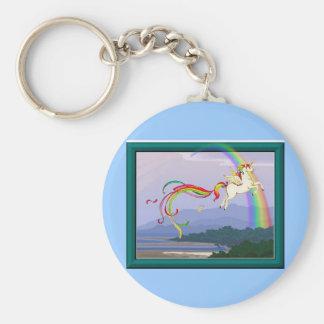 Rainbow unicorn key chains