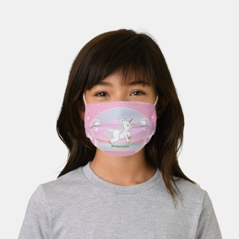Rainbow Unicorn Kids' Cloth Face Mask