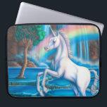 "Rainbow Unicorn Lap Top Bag<br><div class=""desc"">Rainbow Unicorn artwork by Gail Gastfield.</div>"