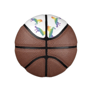 Rainbow Unicorn lgbt Basketball