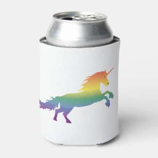 Rainbow Unicorn lgbt Can Cooler