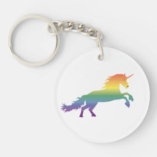Rainbow Unicorn lgbt Keychain