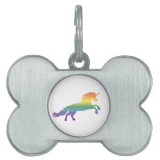 Rainbow Unicorn lgbt Pet ID Tag