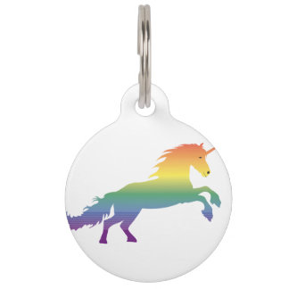 Rainbow Unicorn lgbt Pet Tag