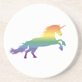 Rainbow Unicorn lgbt Sandstone Coaster