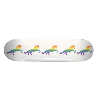 Rainbow Unicorn lgbt Skateboard