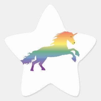 Rainbow Unicorn lgbt Star Sticker