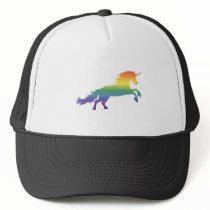 Rainbow Unicorn lgbt Trucker Hat