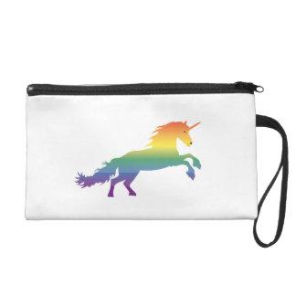 Rainbow Unicorn lgbt Wristlet Purse