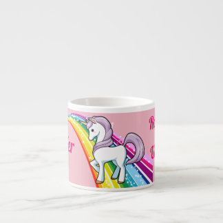 Rainbow Unicorn Little Girl's Cup Personalize NAME