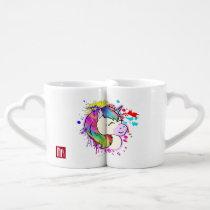 Rainbow Unicorn Love Coffee Cups