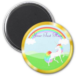 Rainbow Unicorn Magnet