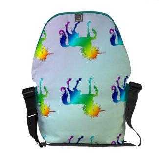 Rainbow Unicorn Messenger Bag