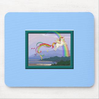 Rainbow unicorn mousepads