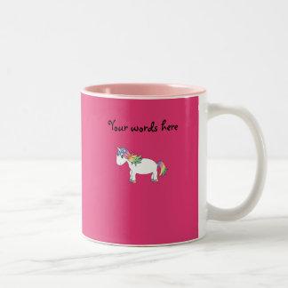 Rainbow unicorn Two-Tone coffee mug