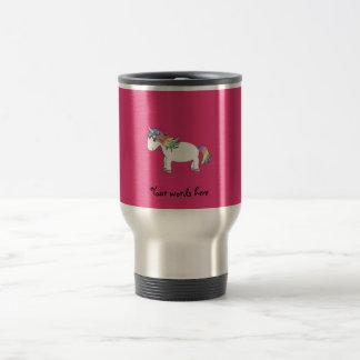 Rainbow unicorn 15 oz stainless steel travel mug