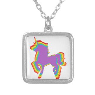 Rainbow Unicorn Necklace Pendant