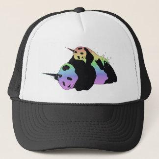 Rainbow Unicorn Pandas Magic Sparkle Cuddle Trucker Hat