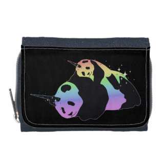 Rainbow Unicorn Pandas Magic Sparkle Cuddle Wallet
