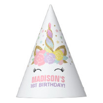 Rainbow Unicorn Party Hat Unicorn Birthday Party