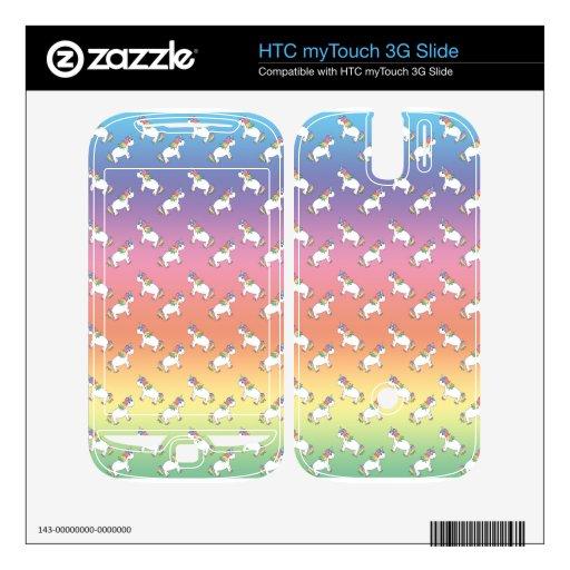 Rainbow unicorn pattern HTC myTouch 3G slide skin