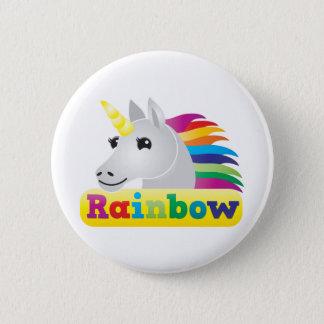 Rainbow Unicorn Pinback Button
