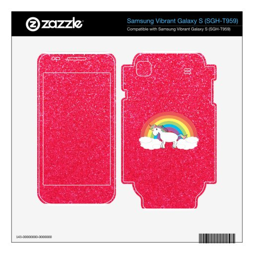 Rainbow unicorn pink glitter samsung vibrant skins