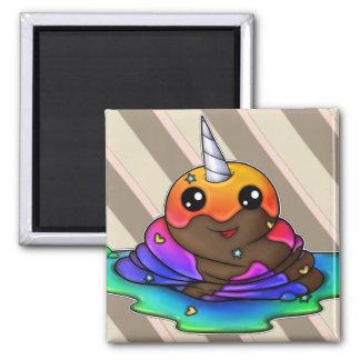 Rainbow Unicorn Poop Magnet