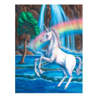 Rainbow Unicorn Post Card