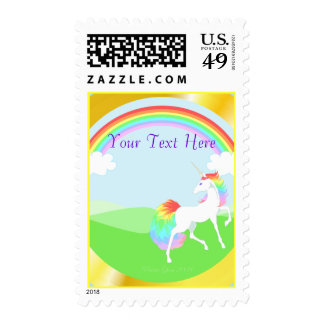 Rainbow Unicorn Postage