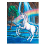 Rainbow Unicorn Postcard