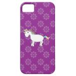 Rainbow unicorn purple flowers iPhone 5 case