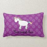 Rainbow unicorn purple flowers pillows