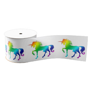 Rainbow Unicorn Ribbon