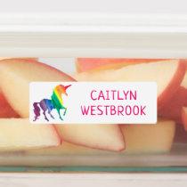 Rainbow Unicorn School Daycare Waterproof Kids Kids' Labels