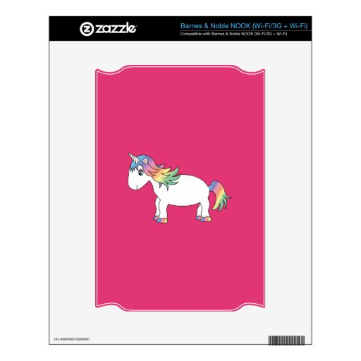 Rainbow unicorn skin for the NOOK