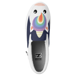 Rainbow Unicorn Slip-On Sneakers