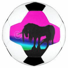 Rainbow Unicorn Soccer Ball at Zazzle