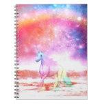 Rainbow unicorn spiral notebook